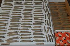 LARGE 1970'S KNIFE BLADE COLLECTION! CAMILLAS,KA-BAR,BUCK,ETC! OVER 120 BLADES!