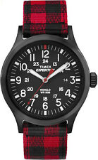 Timex Watch TW4B02000 expedition watch strap scottish red black men's fashion