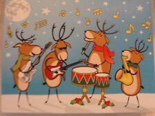ROCKING REINDEER CHRISTMAS CARD- BLANK NOTE CARDS-8PK