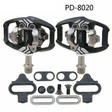 Deore XT PD-M8020 SPD Trail MTB Clipless Bike Pedals Set w/ Cleats Cycling Pair