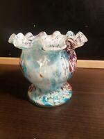 Ancien vase en Verre de clichy, fin XIX ème s, début XX ème s