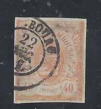LUXEMBOURG 1859 40c orange Imperf Used  SG 15
