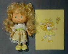"Strawberry Shortcake 5.5"" classic doll Banana Twirl EURO reissue Berrykin W/Card"
