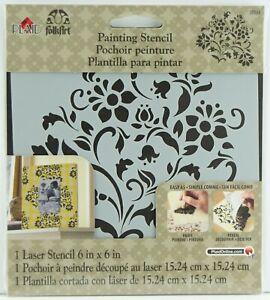 "Plaid FolkArt Painting Stencil Laser Cut 6"" x 6"" 15.24cm x 15.24cm Lovely Floral"