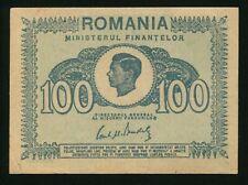 t005 ROMANIA 100 LEI 1945 P#78 BANKNOTE XF