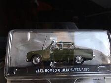 Carabinieri Alfa Romeo Giulia Super 1970 1/43 no mebetoys politoys Dinky mercury
