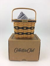 Longaberger 1999 J W Collection Miniature Two Pie Basket Combo w Riser Nib