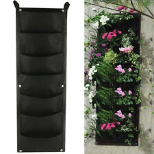 7 Pockets Vertical Garden Wall Planter Hanging Planting Bag Outdoor For Herbs Us