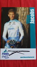 Wim Jacobs autographe signé autogramm radsport cyclisme dedicace