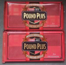 NEW 2 HUGE Trader Joes 72% CACAO Dark Chocolate Candy Bars NO ARTIFICIAL FLAVORS