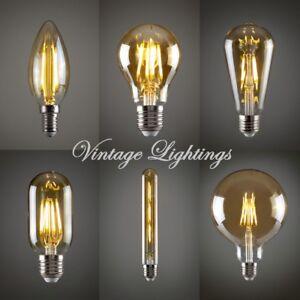 Vintage LED Bulb Filament Antique Stylish Edison Bulb E27 B22 -  2,4,6,12 Packs