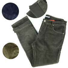 Pantalone uomo velluto Jeans termico imbottito pile invernale caldo Foderato Ela