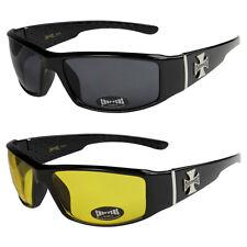 2er Pack Choppers 6608 Locs Sonnenbrille gelbe Gläser Männer Frauen schwarz weiß