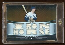 2011 TRIPLE THREADS LOU GEHRIG 21X PIECE GAME PATCH JERSEY SWATCH CHECK OUT SCAN