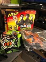 NERF Dart Tag Strikefire 2 Player Duel System Hasbro 2006 62869 Plus 8 Vest