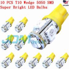 JDM ASTAR 10x T10 5050 SMD Amber Yellow LED Car Lights Bulb 194 168 2825 W5W 175