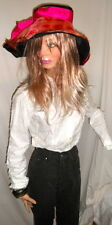 Must have ANNE FONTAINE French White Button Front Top 2 $325 Fun, Sexy<~~~L@@K!
