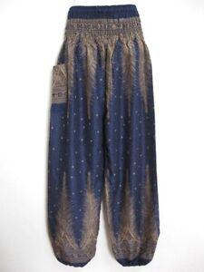 New Ladies Harem Pants Baggy Bohemian Boho Hippie Aladdin Yoga Boho Trousers HPC
