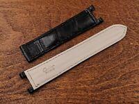 New Cinturino Cartier Pasha Coccodrillo Nero Made in France Chiusura Deployante