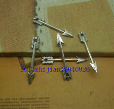 50/200pcs Antique silver/bronze alloy lovely mini delicate arrow Charm pendant