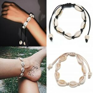 Women Boho Shell Charm Bracelet Anklet Fashion Ankle Foot Rope Jewelry Gifts NEW