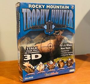 Vintage 1998 PC Rocky Mountain Trophy Hunter II Computer Game WizardWorks SEALED