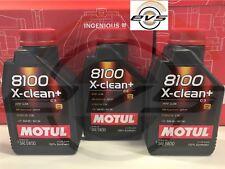 3 Litri Olio Motore Motul 8100 X-CLEAN+ 5W30 C3 100%25 Sintetico VW 504.00 507.00