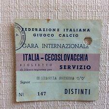 RARO BIGLIETTO CALCIO ITALIA - CECOSLOVACCHIA 13 /12/1953 GENOVA FERRARIS