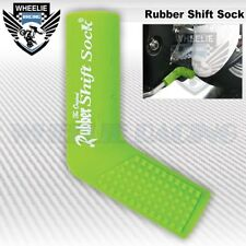 MOTORCYCLE SPORT BIKE SHIFTER SHIFT SOCK SHOES & BOOTS PROTECT SCUFF DIRT GREEN