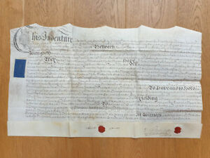 1759 Indenture sale of land and buildings Yeovil, Somerset near the Angel Inn