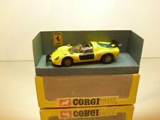 CORGI TOYS FERRARI 206 DINO SPORT - YELLOW 1:43 - GOOD CONDITION IN BOX