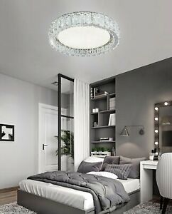 Am-light Circular ceiling light with real K9 Crystals and LED light included