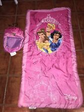 Disney Princess Traditional Slumber Sleeping Bag Backpack Pink