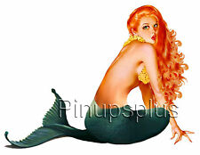 Mermaid Tattoo Pinup Waterslide Decal Great for Guitars S254 by Pinupsplus