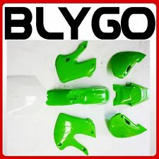 GREEN Plastics Fairing Fender Kit KLX110 125cc PIT PRO Trail Dirt Big Foot Bike