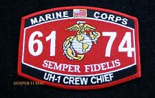 MOS 6174 UH-1 CREW CHIEF HAT PATCH US MARINES USS FMF MWCS WOW