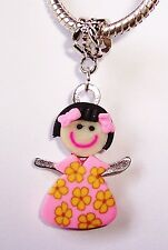 Girl Daughter Sister Niece Doll Granddaughter Dangle Bead fits Charm Bracelet