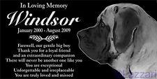 Personalized English Mastiff Pet Memorial 12x6 Granite Grave Marker Headstone