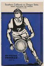 1939-40 Southern California-Oregon State Playoff Program Trojans Top OSU RARE!!