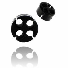 PAIR CARVED BUFFALO HORN 0g 8MM PLUGS TUNNELS PLUG