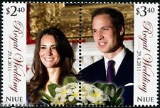 William & Kate Royal Wedding Niue setenant pair of stamps mnh 2011