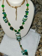Glass Emerald Green Lampwork Necklace