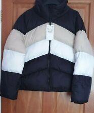 Zara Black Ecru Colour Block Puffer Jacket Coat BNWT SIZE XXL