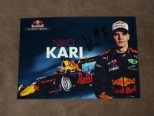 Niko KARI - original AG, (2017) GP3 Red Bull Junior, Karte/card 10x15 cm