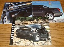 2003 2004 2005 Chevrolet Avalanche Sales Brochure Lot of 3 03 04 05 Chevy