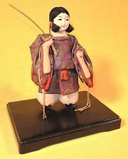 EMPRESS JINGU MUSHA GOFUN DOLL WITH BEAUTIFULLY DETAILED COSTUME, TAISHO 1920's
