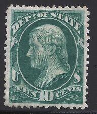 US Scott #O62, Single 1873 Official 10c VF MH