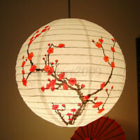 "14"" Plum Blossom Paper Lantern Lamp Light Shade Oriental Chinese Japanese  *"