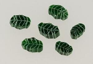 Fused Glass Materials and Supplies - Millefiori Holly Leaves (90 COE)