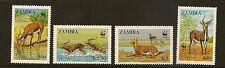 ZAMBIA :1987 Black Lechwe  WWF set SG537-40 unmounted mint